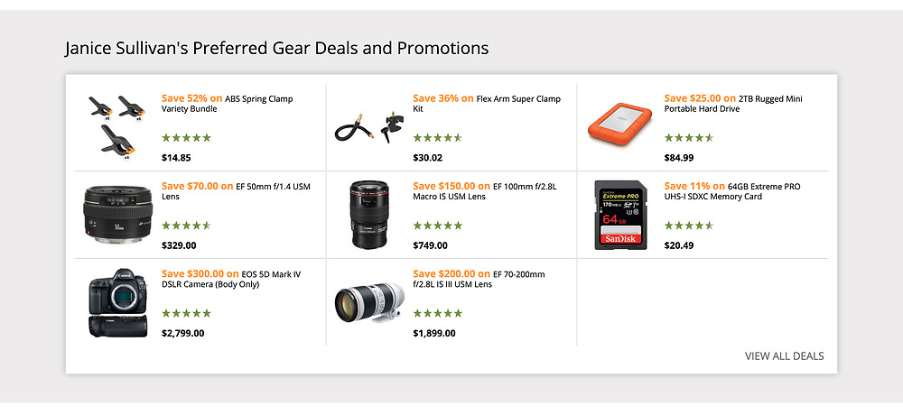 janice's gear deals and promotions