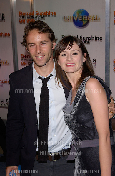 Actress EMILY MORTIMER & husband actor ALESSANDRO NIVOLA at the DVD launch party, in Los Angeles, for Eternal Sunshine of the Spotless Mind..September 23, 2004