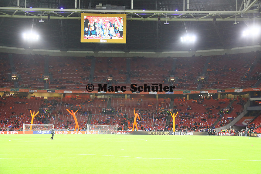 Innenraum der Amsterdam Arena - 24.03.2019: Niederlande vs. Deutschland, EM-Qualifikation, Amsterdam Arena, DISCLAIMER: DFB regulations prohibit any use of photographs as image sequences and/or quasi-video.
