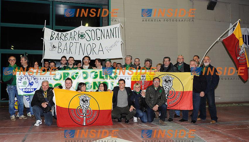 """Lega Nord Bergamo 10/04/2012 - manifestazione """"orgoglio Padano"""" .nella foto: militanti lega .Foto Insidefoto"""