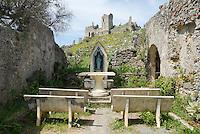Italy, Calabria, Cirella Vecchia (castle ruin) and church Chiesa dell'Annunziata