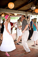 Debbie Pilson hits the dance floor at West Bend Vineyard and Winery, in the Yadkin Valley, NC.