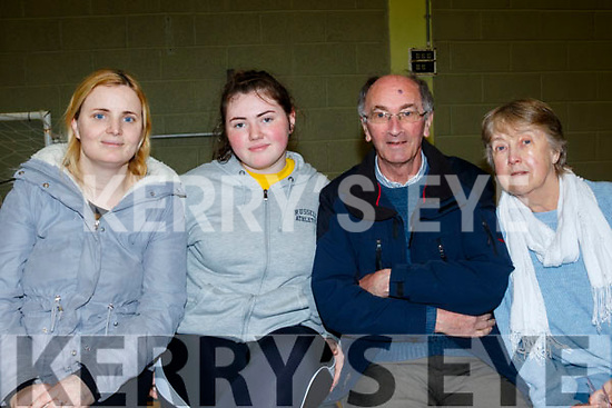 L-R Elaine Griffin, Jane Lawlor, Michael Griffin and Mary O'Callaghan in the audience area of the Clanmaurice Credit Union sponsored quiz last Sunday in Causeway Comprehensive school.