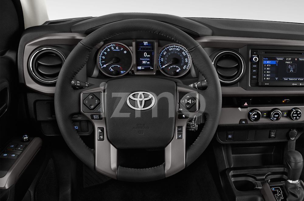 Car pictures of steering wheel view of a 2018 Toyota Tacoma SR5 Access Cab 4 Door Pick Up