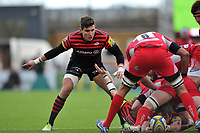 Nils Mordt looks on as London Welsh look to recycle the ball. Aviva Premiership match, between Saracens and London Welsh on March 3, 2013 at Allianz Park in London, England. Photo by: Patrick Khachfe / Onside Images