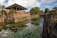 Bali, Indonesia.  The Bale Kambang (Floating Pavilion), inside the Kerta Gosa Compound, the Place for Administration of Justice in the Pre-colonial Era.  Klungkung, Semarapura.
