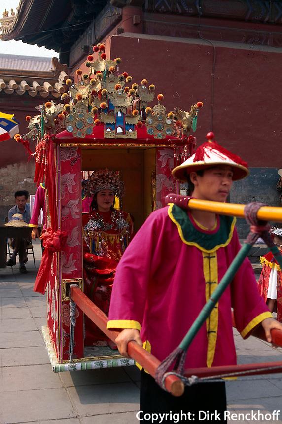 China, Peking, Erinnerungsfotos im JingShan-Park