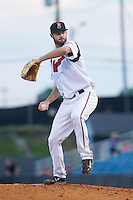 Nashville Sounds starting pitcher Taylor Jungmann (33) in action against the Oklahoma City RedHawks at Greer Stadium on July 25, 2014 in Nashville, Tennessee.  The Sounds defeated the RedHawks 2-0.  (Brian Westerholt/Four Seam Images)