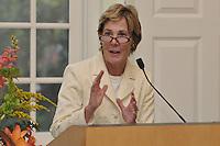 Linda Koch Lorimer, Vice President and Secretary - Yale University, speaking at Breaking The Veil Art Exhibit Opening Reception, 8 September 2009, at the Yale Divinity School.