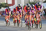 Burgos-BH in action during Stage 1 of La Vuelta 2019, a team time trial running 13.4km from Salinas de Torrevieja to Torrevieja, Spain. 24th August 2019.<br /> Picture: Luis Angel Gomez/Photogomezsport | Cyclefile<br /> <br /> All photos usage must carry mandatory copyright credit (© Cyclefile | Luis Angel Gomez/Photogomezsport)