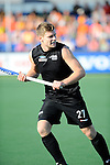 The Hague, Netherlands, June 01: Stephen Jenness #27 of New Zealand looks on during the field hockey group match (Men - Group B) between the Black Sticks of New Zealand and Korea on June 1, 2014 during the World Cup 2014 at GreenFields Stadium in The Hague, Netherlands. Final score 2:1 (1:0) (Photo by Dirk Markgraf / www.265-images.com) *** Local caption ***