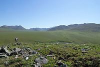 Edward Bennett photographs Caribou Pass, above the Kongakut River, in Alaska's Arctic National Wildlife Refuge.