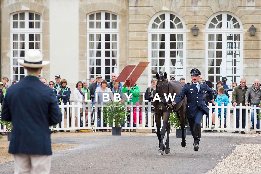 GER-Andreas Ostholt (SO IS ET) FIRST HORSE INSPECTION: EVENTING: The Alltech FEI World Equestrian Games 2014 In Normandy - France (Wednesday 27 August) CREDIT: Libby Law COPYRIGHT: LIBBY LAW PHOTOGRAPHY - NZL