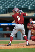 Johnny Adams (8) of the Boston College Eagles at bat against the North Carolina State Wolfpack in Game Two of the 2017 ACC Baseball Championship at Louisville Slugger Field on May 23, 2017 in Louisville, Kentucky. The Wolfpack defeated the Eagles 6-1. (Brian Westerholt/Four Seam Images)