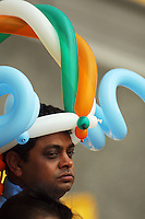 An Indian fan during the 2nd ODI cricket match between the New Zealand Black Caps and India at Westpac Stadium, Wellington, New Zealand on Friday, 6 March 2009. Photo: Dave Lintott / lintottphoto.co.nz