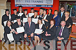 The Kilcummin group who received their FRS Training Limited Fetec 5 healthcare course certificates   from Minister Jimmy Deenihan at their Graduation ceremony in the River Island Hotel, Castleisland on Friday evening front row l-r: Mairead Hickey, Ann Marie Keane, Minister Jimmy Deenihan, Eileen Kennedy, Ger Deasey, John Finucane. Middle row: Mary Cronin, Eileen McGillicuddy, Tecla O'Connor, Breda Sweeney, Mags O'Connor, Noelle O'Connor, Kathryn Callaghan, Karen Moynihan, Janice Muherne, Maggie Murray, Jim Dockery and Eileen Conlon....