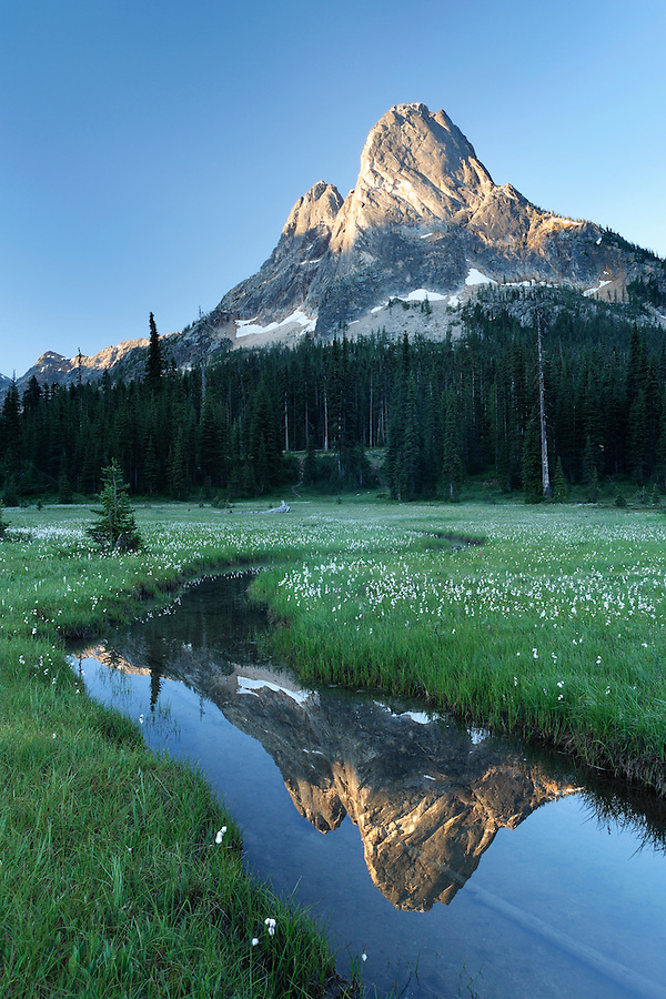 Pond below Liberty Bell Mountain, Washington Pass, Hwy 20, Wenatchee National Forest, North Cascades, Washington