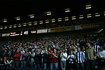 Blackburn Rovers 3, Huddersfield Town 1, 22/09/2005. Ewood Park, Carling Cup. The Huddersfield fans applauding their team at the start of the second half, undeterred by the scoreline. Photo by Colin McPherson.