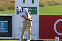 Julien Quesne (FRA) tees off the 11th tee during Thursday's Round 1 of the 2016 Portugal Masters held at the Oceanico Victoria Golf Course, Vilamoura, Algarve, Portugal. 19th October 2016.<br /> Picture: Eoin Clarke | Golffile<br /> <br /> <br /> All photos usage must carry mandatory copyright credit (&copy; Golffile | Eoin Clarke)