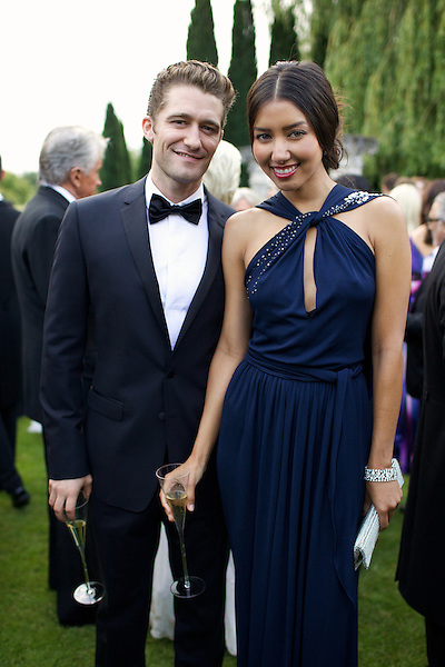 Matthew Morrison from Glee with Renee Puente at Elton John's White Tie and Tiara Ball