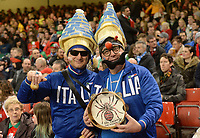 Italian Fans enjoying the pre match atmosphere <br /> <br /> Photographer Ian Cook/CameraSport<br /> <br /> 2018 NatWest Six Nations Championship - Wales v Italy - Sunday 11th March 2018 - Principality Stadium - Cardiff<br /> <br /> World Copyright &copy; 2018 CameraSport. All rights reserved. 43 Linden Ave. Countesthorpe. Leicester. England. LE8 5PG - Tel: +44 (0) 116 277 4147 - admin@camerasport.com - www.camerasport.com