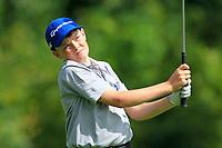 Aodhagan Brady (Co.Sligo) on the 1st tee during the Connacht U12, U14, U16, U18 Close Finals 2019 in Mountbellew Golf Club, Mountbellew, Co. Galway on Monday 12th August 2019.<br /> <br /> Picture:  Thos Caffrey / www.golffile.ie<br /> <br /> All photos usage must carry mandatory copyright credit (© Golffile | Thos Caffrey)