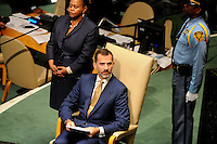 NEW YORK, USA - SEPT 25, U.S. King Felipe VI of Spain during the 69 session of the General Assembly on September 25.2014 photo by VIEWpress