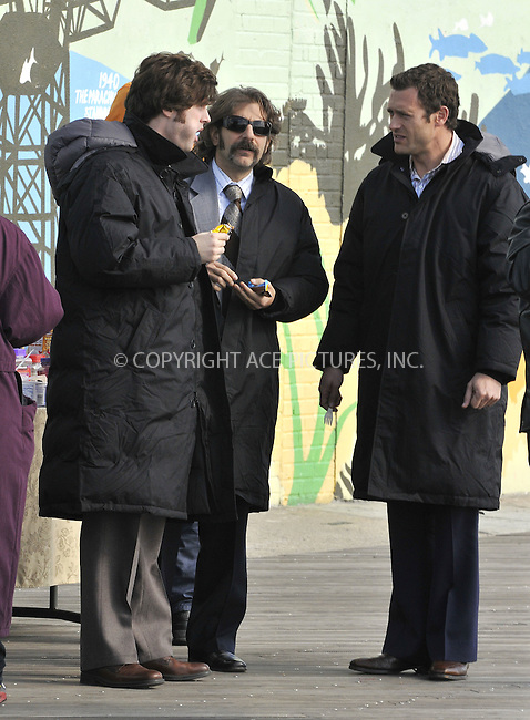 WWW.ACEPIXS.COM . . . . .  ....October 302008, Coney Island, NY....Actors Jonathan Murphy, Michael Imperioli, Jason O'Mara on the set of the TV series 'Life on Mars' in Coney Island on October 30 2008 in New York City....Please byline: AJ Sokalner - ACEPIXS.COM..... *** ***..Ace Pictures, Inc:  ..te: (646) 769 0430..e-mail: info@acepixs.com..web: http://www.acepixs.com