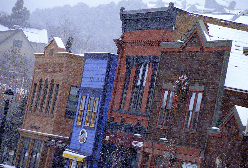 Downtown Basalt Colorado during a snow storm. © Michael Brands.