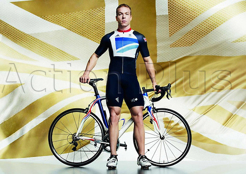 22.03.2012. London, England.  Britain s cyclist Chris Hoy Shows The Uniform of The British cyclist team for The 2012 London by Stella McCartney for the London based 2012 Olympic Games in London