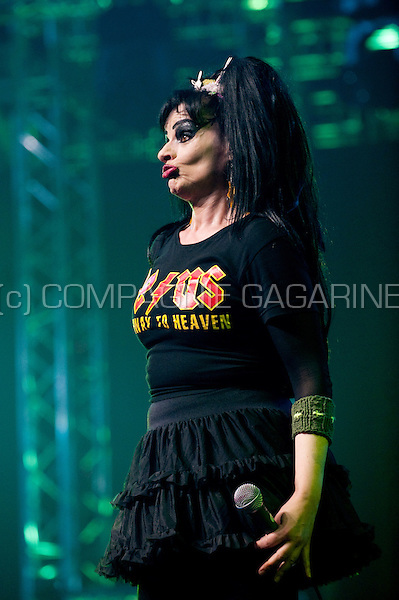 German singer Nina Hagen at the Sinner's Day festival in Hasselt (Belgium, 31/10/2010)