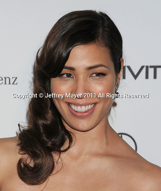 "LOS ANGELES, CA - January 15: Michaela Conlin arrives at Art Of Elysium's 4th Annual ""Heaven"" Charity Gala at California Science Center's Wallis Annenberg Building on January 15, 2011 in Los Angeles, California."