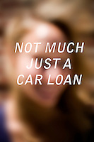 "Anonymous portrait taken in Cambridge, Massachusetts, USA,  paired with text answering the question: How much do you owe?  The project was produced as a look at personal debt for Longshot Magazine #2.  ..The person's response here reads: ""Not much just a car loan"""