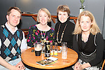 Iain Donovan, Niamh Moloney, Ruth O'Looney and Eveann O'Looney at the Neil Hannon gig in the Droichead Arts Centre..Picture Jenny Matthews/Newsfile.ie