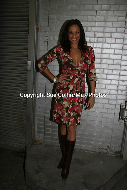 Daphnee Duplaix appears at Big Apple Comic Con for autographs and photos on October 16 (and 17 & 18), 2009 at Pier 94, New York City, New York. (Photo by Sue Coflin/Max Photos)