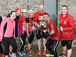 Aileen Looney Ryan, Louise Irvine, Lisa Martin, Olwyn Corcoran, Brian Sutton, Kevin Clancy and Jamie Holmes who took part in the Duleek & District 5K run. Photo:Colin Bell/pressphotos.ie