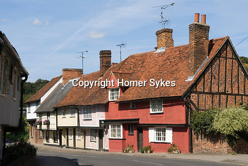 Saffron Walden Essex England 2009. Traditional Essex cottage housing Bridge Street.