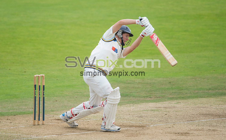 Picture by Allan McKenzie/SWpix.com - 26/09/2014 - Cricket - LV County Championship Div One - Yorkshire County Cricket Club v Somerset County Cricket Club - Headingley Cricket Ground, Leeds, England - Yorkshire's Gary Ballance hits out.