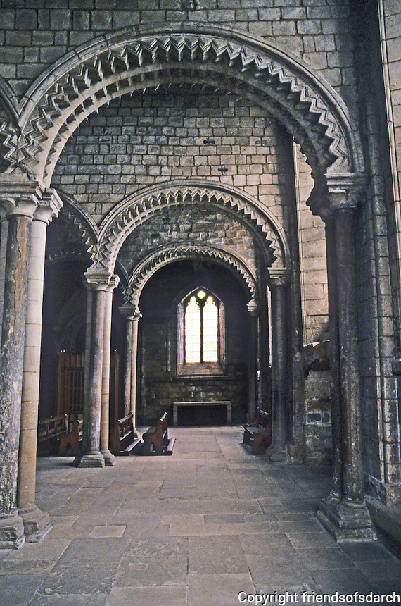 Durham: Durham Cathedral--Galilee Chapel. Photo '90.