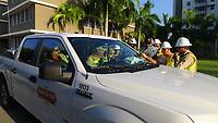Hurricane Irma restoration crews in Miami, Fla. on September 12, 2017.