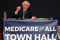 "Washington, DC - January 23, 2018: U.S. Senator Bernie Sanders holds a ""Medicare Town Hall"" at the U.S. Capitol Visitor's Center auditorium January 23, 2018, in conjunction with NowThis and The Young Turks.  (Photo by Don Baxter/Media Images International)"