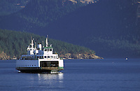 The ferry Illahee cruising the San Juan Islands, Washington.