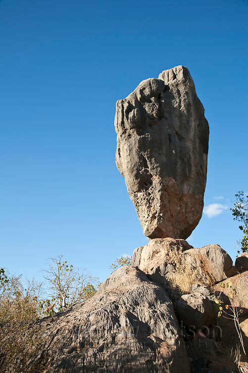 Balancing Rock at Chillagoe-Mungana Caves National Park.  Chillago, Queensland, Australia