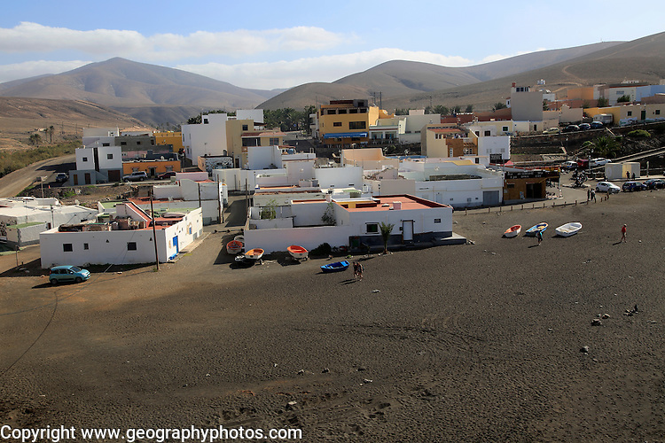 Houses in the coastal village of Ajuy, Fuerteventura, Canary Islands, Spain