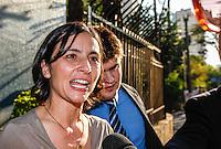 SAO PAULO, SP, 31 AGOSTO 2012 - ELEICOES 2012 - JOSE SERRA - A candidata a prefeitura de Sao Paulo pelo PPS, Soninha Francine  na APAE para encontro promovido pela entidade, no bairro de Vila Mariana, regiao sul da capital paulista, nesta sexta-feira, 31. (FOTO: VANESSA CARVALHO / BRAZIL PHOTO PRESS).