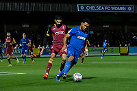 Kelvin Mellor of Bradford City and Andy Barcham of AFC Wimbledon during AFC Wimbledon vs Bradford City, Sky Bet EFL League 1 Football at the Cherry Red Records Stadium on 2nd October 2018