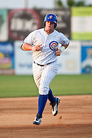 First Baseman Justin Bour #41of the Daytona Beach Cubs rounds second base after his homerun against the Brevard County Manatees at Jackie Robinson Ballpark on April 9, 2011 in Daytona Beach, Florida. Photo by Scott Jontes / Four Seam Images