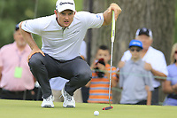 Justin Rose (ENG) on the 2nd green during Saturday's Round 3 of the WGC Bridgestone Invitational 2017 held at Firestone Country Club, Akron, USA. 5th August 2017.<br /> Picture: Eoin Clarke | Golffile<br /> <br /> <br /> All photos usage must carry mandatory copyright credit (&copy; Golffile | Eoin Clarke)