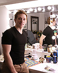 Ethan Slater photographed in his dressing room and backstage at Palace Theatre on December 20, 2017 in New York City.