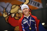 SCHAATSEN: HEERENVEEN: 08-03-2013, IJsstadion Thialf, VIKING RACE Internationale Jeugdschaatswedstrijd, Femke Beuling, ©foto Martin de Jong